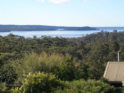 Stunning view across Twofold Bay to Eden