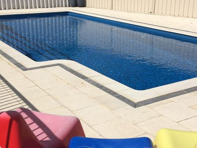 Huge 9.5 m long by 4 m wide swimming pool