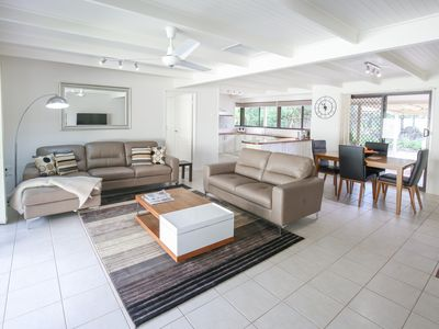 Open Spacious Living with Large Doors to Gardens