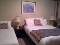 2nd bedroom has queen and single bed