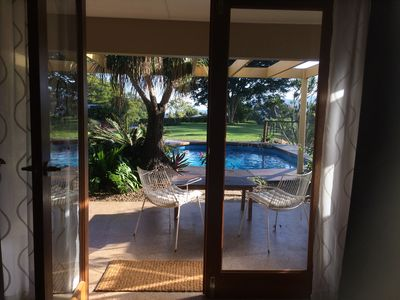 View from the pool room