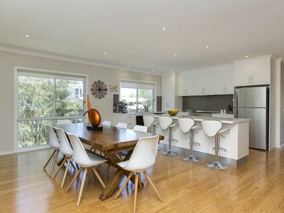 Expansive kitchen /dining area. Imagine the memorable meals on this dining table