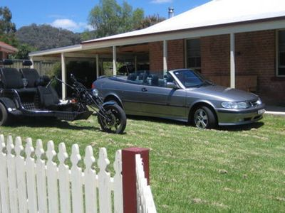 OUR TRIKE AND CONVERTIBLE AT 2 BARIGAN ST