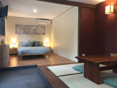New, purpose built master suite with private tatami mat retreat & garden