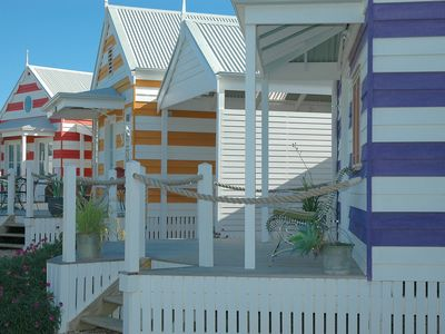 Beach Huts Middleton seaside themed, self contained accommodation