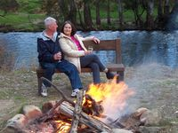 Campfires by the river