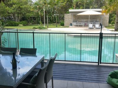 Direct private access into 75 metre Lagoon pool from deck