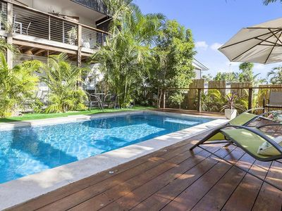 Tropical pool and deck