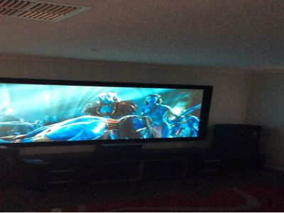 Massive 2.5metre projector screen
