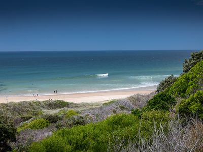 Beautiful Sandy Beach View from the Headland