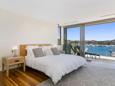 Master bedroom with Harbour Views