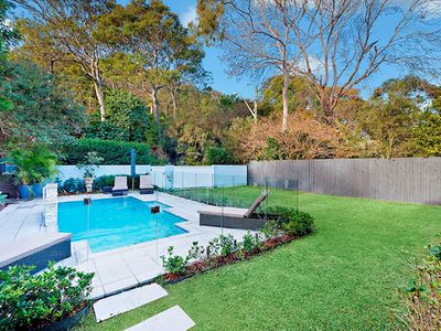 Pool and front garden