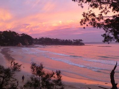 Sunset over Surf Beach, view from your place