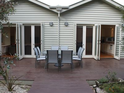 Fully enclosed backyard with fantastic entertaining area