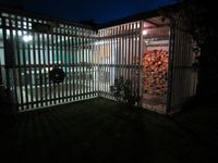 Wood Shed & Table Tennis area at night