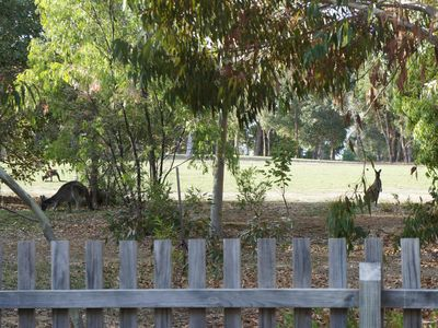 Watch the kangaroos over the fence as you have breakfast or a sundowner