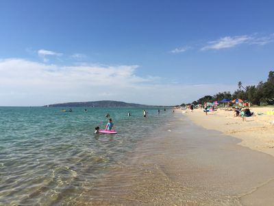 opposite to Aquawaters - swimming beach - safe for children