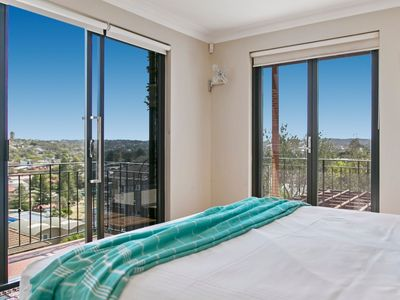 Master bedroom with a view - King