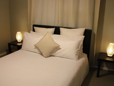 Third bedroom with queen bed and luxurious hotel quality linen