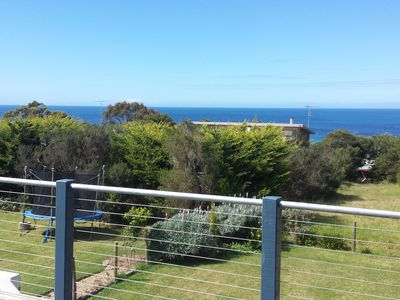 Enjoy amazing sea views from an extra large deck