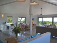 Living, dinning and kitchen area in one of the beach houses.