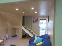 Beautiful Birch plywood lining and soft pure wool carpet, snuggle up!