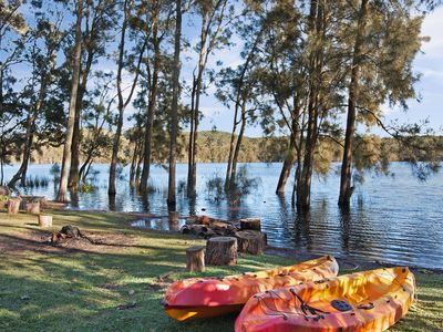 Located right on cochrane lagoon - perfect for early morning paddles