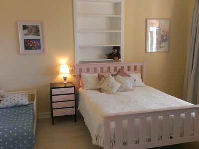 Queen bed plus baby bed