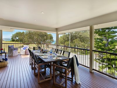 Upstairs alfresco deck