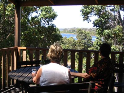 Enjoy a glass of Margaret River wine on the balcony.