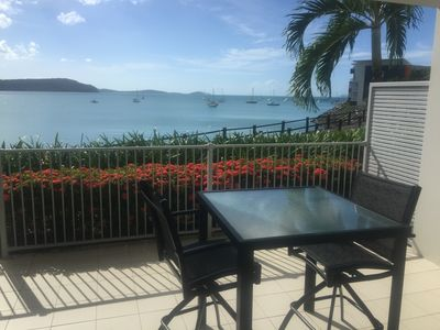 Ocean & Island Views Ground Floor Balcony With BBQ
