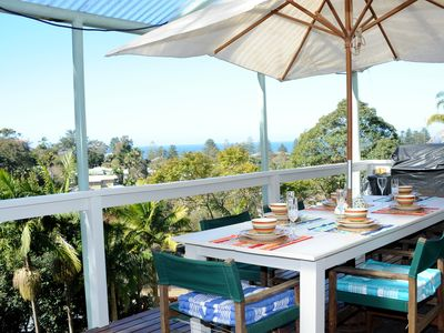 Outdoor Setting with BBQ and Ocean Views