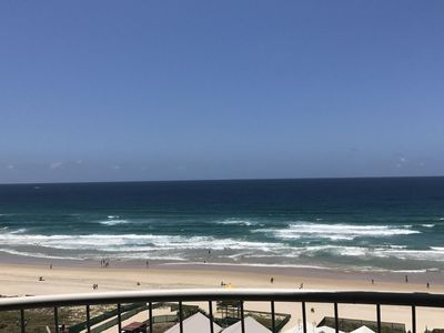 Enjoy an endless ocean view from your balcony of famous Surfers Paradise Beach.