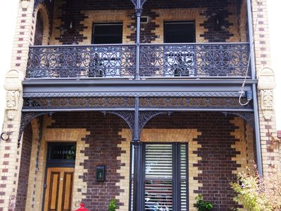 grand victorian terrace in historical Emerald Hill precinct