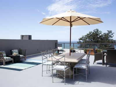 private rooftop with amazing views, BBQ and lots of seating areas