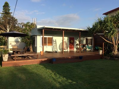 Its a charming Beach Cottage of 1960's ilk with a wonderful beachside vibe.