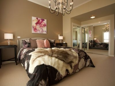 The gorgeous master bedroom