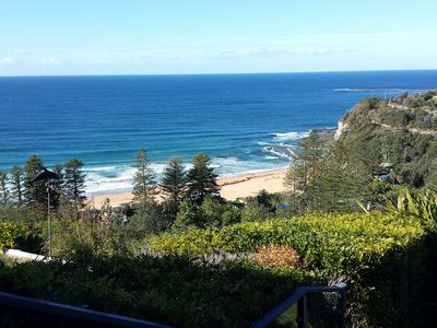 View looking over Bilgola Beach from the rear garden.