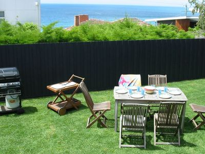 Your own back yard with fabulous Ocean Views and soothing Ocean Sounds...