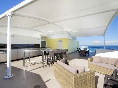 Private Rooftop Overlooking the Oceanfront , Lounge, Granite Dry Bar