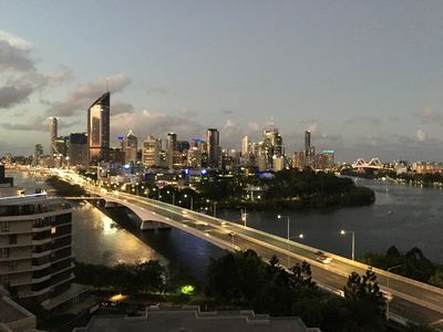 Sweeping Brisbane city and river views