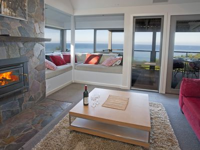 All cottages have an open fire place with a spectacular view