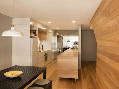 Open plan kitchen living and dining