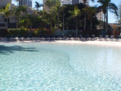 Lagoon Pool with its own Sandy Beach