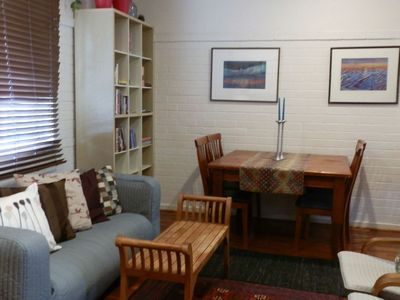 combined living and dining area