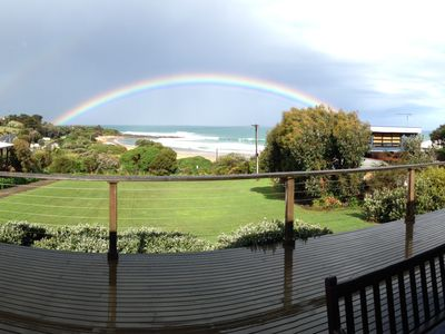 Beach view & rainbow