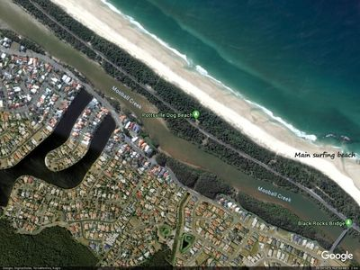 Blackrocks Beach, canals, creek, cycle-ways, parks, shops, fish, swim.