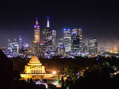 Magical Melbourne at night