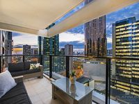 Your PRIVATE Balcony with views over Melbourne Skyline