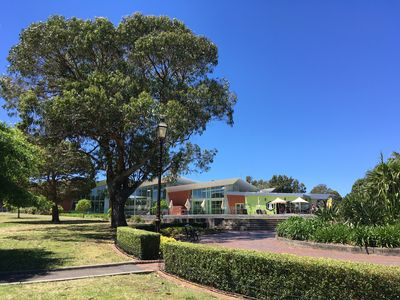 Across the road in beautiful Enmore park, the Annette Kellerman Aquatic centre.